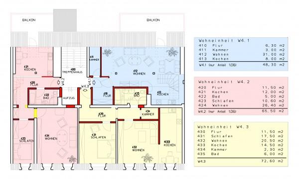 1.Dachgeschoss -  Demianiplatz 26